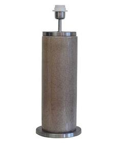 LISSABON LAMPFOT - GRÅ/ BORSTAD SILVER - 59 CM