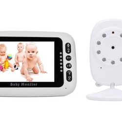 """Babyvakt 4,3"""" LCD skärm med temperaturvisning"""