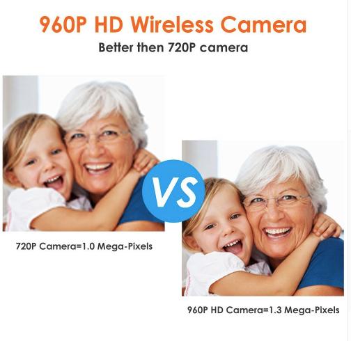 ZOSI Övervakningspaket 8st trådlösa IP-kameror 960P Vattentäta + 1TB Hårddisk