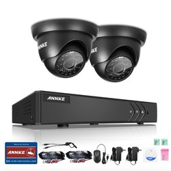 ANNKE övervakningssystem 2st kameror 720P IP66