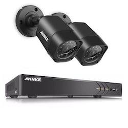 ANNKE övervakningssystem 2st kameror 720P Väderbeständiga