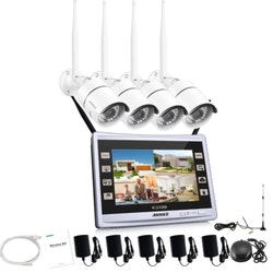 "ANNKE WIFI Övervakningspaket 4st Kameror 960P 11"" LCD Monitor"