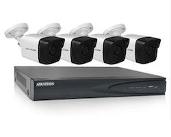Komplett POE Övervakningssystem HIKVISION 1080P 4 Kameror