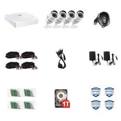 ZOSI Övervakningssystem 2560X1920P IP67 4 Kameror