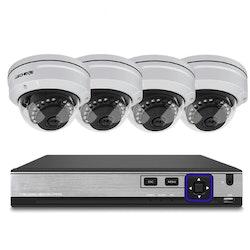 Techege PoE Övervakningssystem 1080P 4 Kameror IP66 3MP