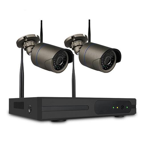 SUMOGUARD Övervakningssystem 2st kameror Wi-fi NVR-kit 720P HD