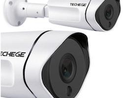 Techege PoE Övervakningssystem 1080P 8Kameror IP67
