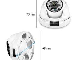 Komplett PoE Övervakningssystem Techege 1080P 8 Kameror