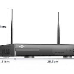 HISEEU Komplett Övervakningssystem 4st trådlösa IP-kameror 1080P IP66