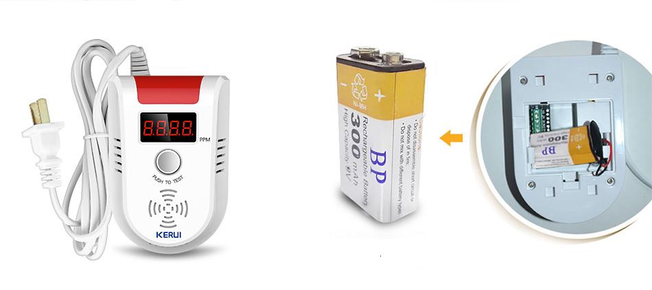 KERUI Avancerad Trådlös Gasdetektor LED-display