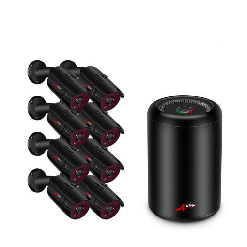 ANRAN PoE Övervakningssystem 8 st kameror 5MP IP66