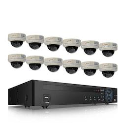 ANRAN PoE Övervakningssystem 12 st kameror 5MP IP66 Dome