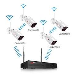 ANRAN Övervakningssystem 8 CAM Wifi trådlös 1080P