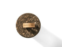 Medium grain cork with brown strap
