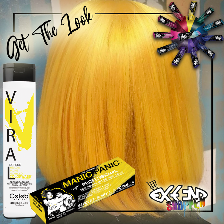 Get the look #5 - Solar yellow - Yellow Colorwash