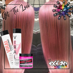 Get the look #4 - Cotton candy pink - Pink Colorwash - Rosegold Colorditioner
