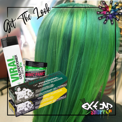 Get the look #7 - Electric Lizard - Serpentine Green -  Solar yellow - Green Colorditioner
