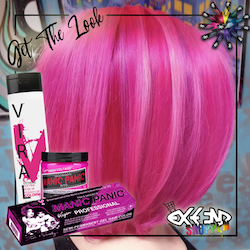 Get the look #8 - Cotton candy pink -  Pink Warrior - Hot Pink Colorwash