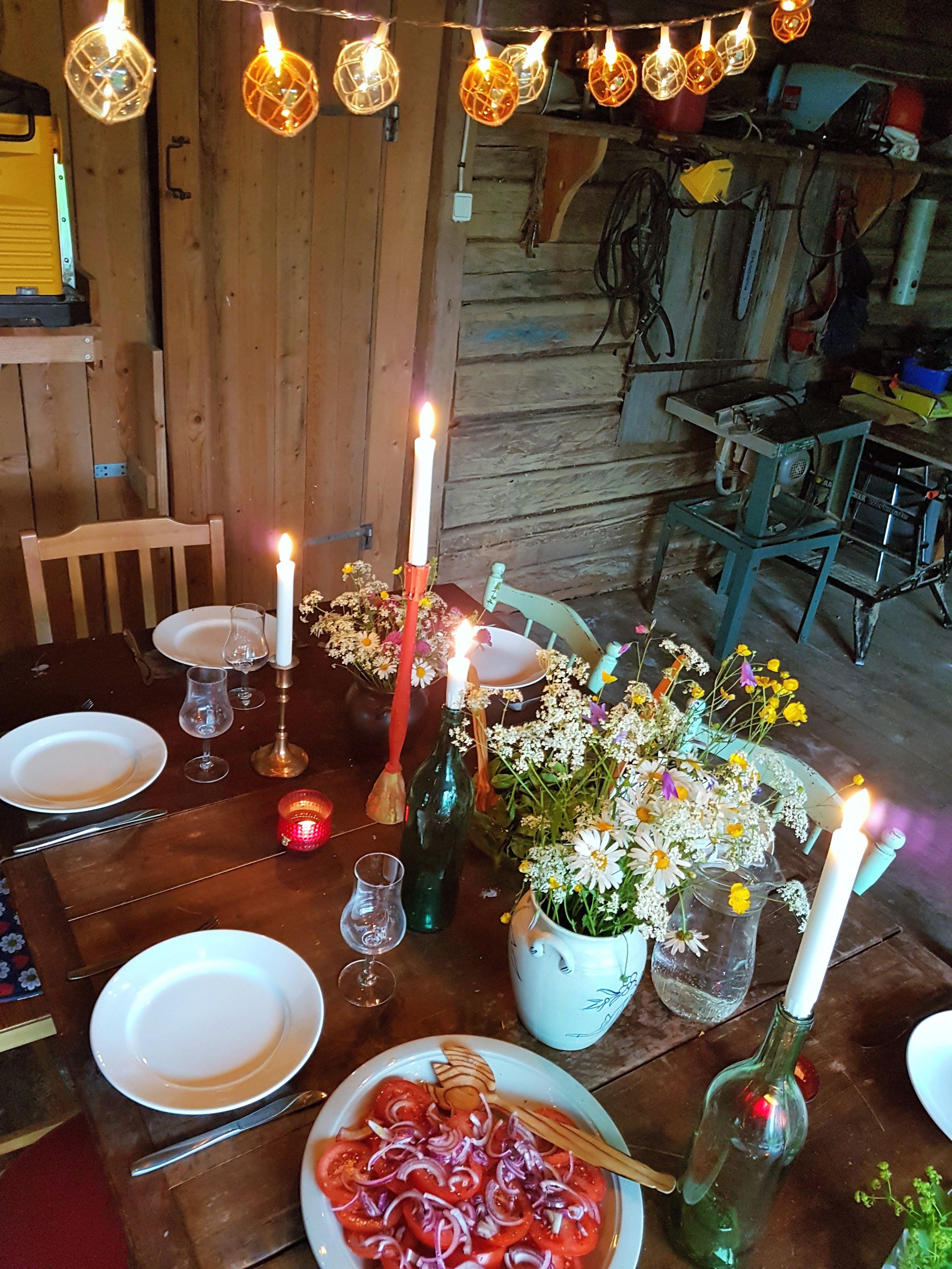 Fiskarflötes ljuslinga -vintage