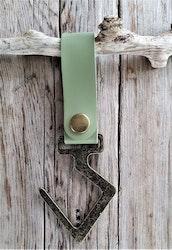 Läderremskrok - Ljusgrön