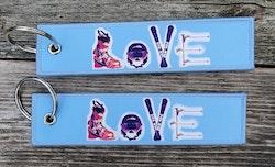 LOVE  Nyckelring/tag