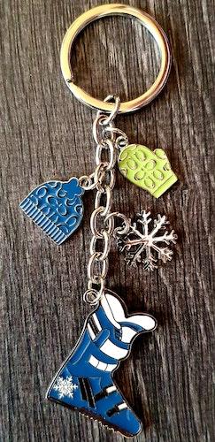 Nyckelring - Åka skidor