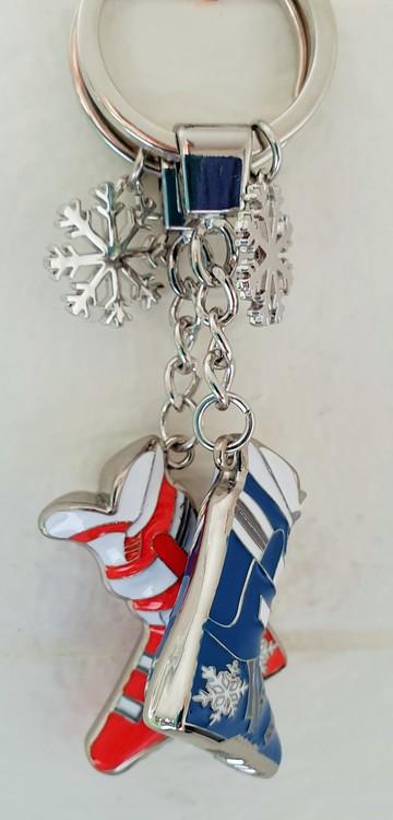 Alpinpjäxa blå med snöflinga