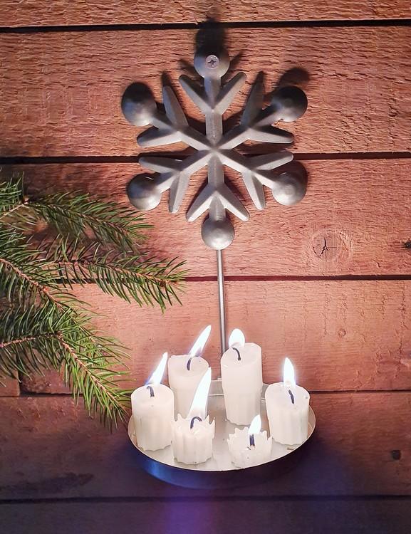 Ljushållare/lampett med Snöflinga
