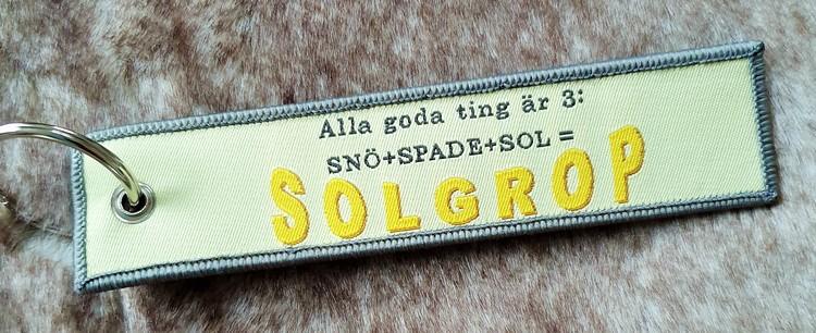 SOLGROP  Nyckelring/tag