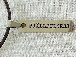 Fjällfulness berlock med läderband