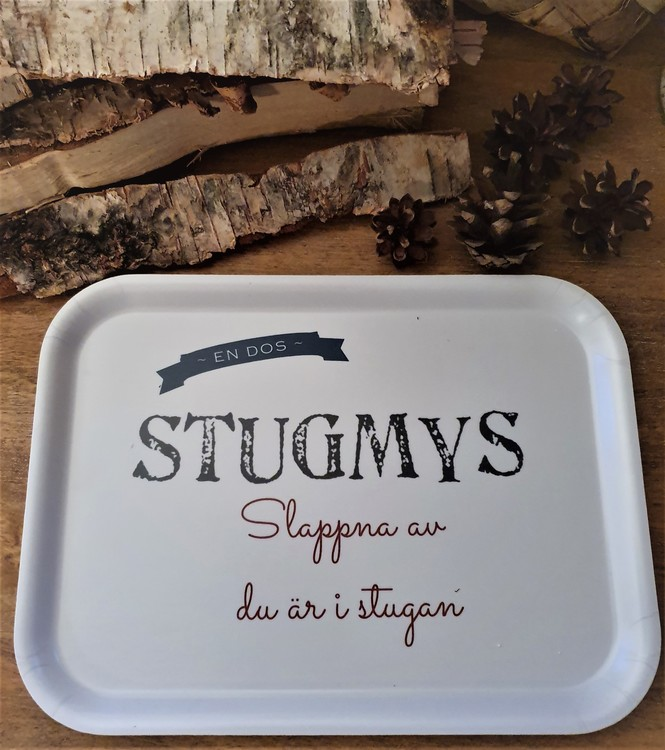 Stugmys- Bricka