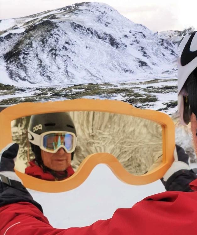 Skidglasögon/Googels - Guld