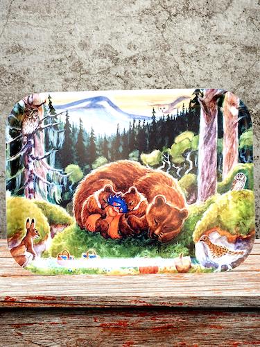 Plupp i blåbärsskogen - Bricka