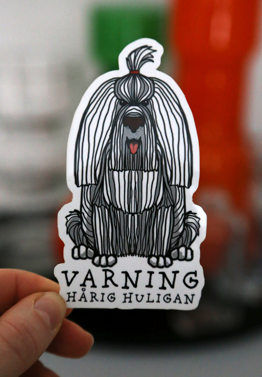 Sticker Hårig Huligan