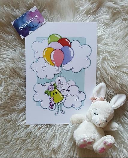 Namntavla: Prinsesstårtan m. ballonger