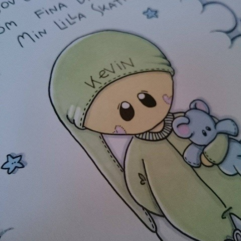 Barntavla: Godnatt min prins, med dikt