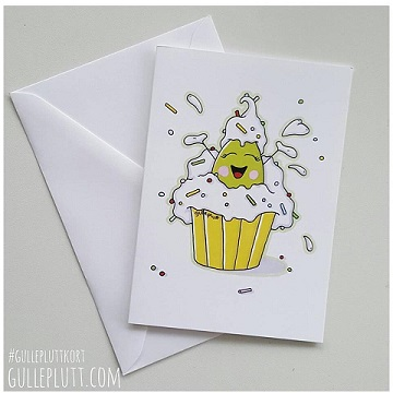 Grattiskort, Gulleplutt i Cupcake