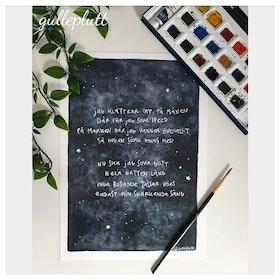Barntavla: Räven på månen, dikt
