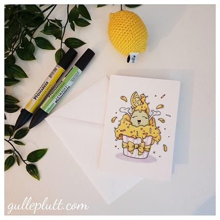 Kort: Cupcake Citron