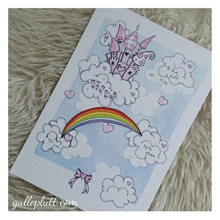 Doptavla: Magiskt luftslott med regnbåge
