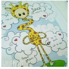 Doptavla: Giraffen