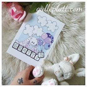 Kort: Lila Kaninen