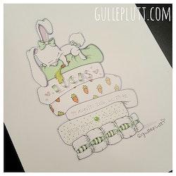 Doptavla: Kaninen på ärten