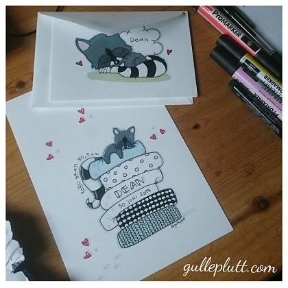Doptavla: Tvättbjörnen på ärten