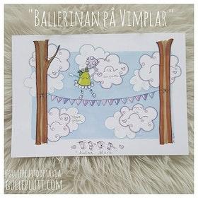 Doptavla: Ballerina på vimplar