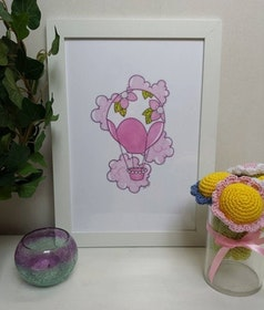 Doptavla: Rosa Luftballong