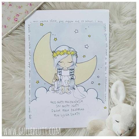 Barntavla: Godnatt min prinsessa