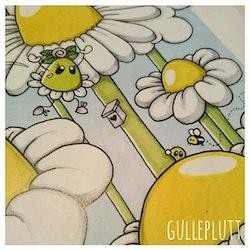 Barntavla: Gula blomparadiset