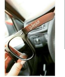Solglasögon, mattsvarta med spegelglas
