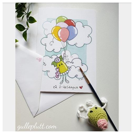Gratulationskort: Ballonger